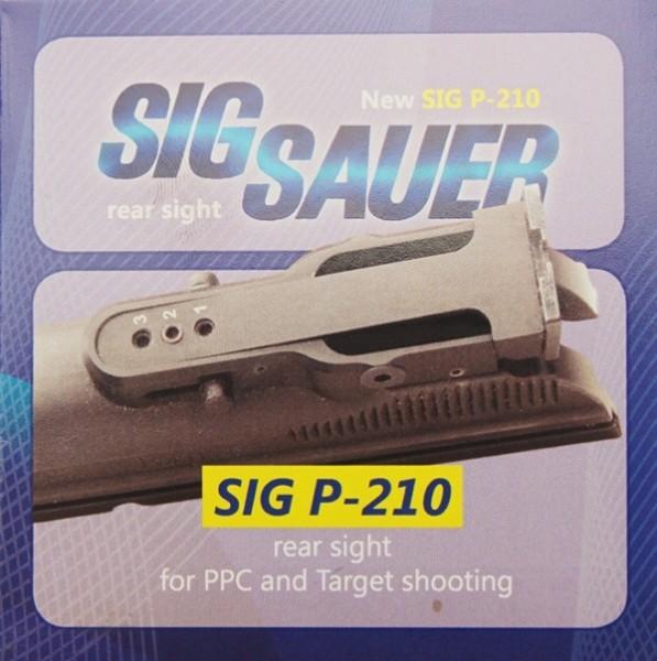 Sig P210 / Sig Sauer P210 Mehrpositionenviser mit Korn und Austauschkimmenblatt