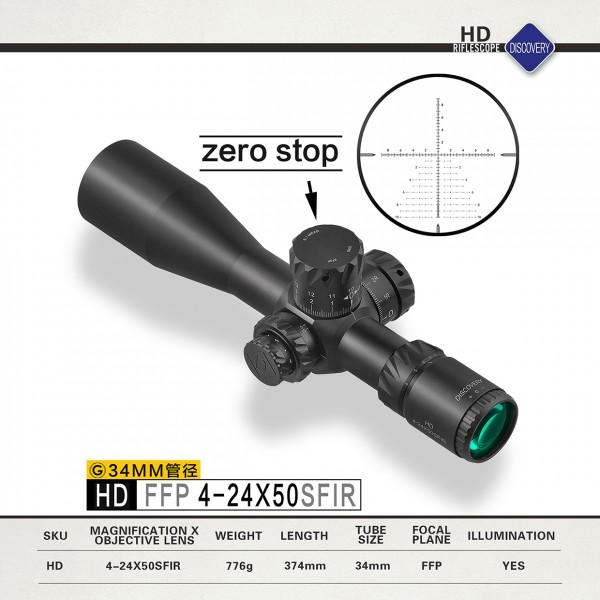 Zielfernrohr Discovery Compact HD/34 FFP 4-24x50 SFIR 34mm mit Leuchtabsehen